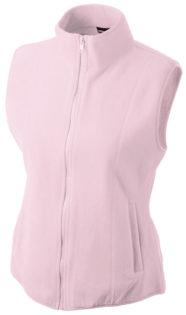 Ärmellose Fleecejacke Damen - light pink