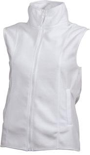 Ärmellose Fleecejacke Damen - white