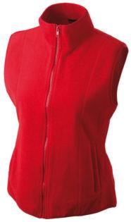 Ärmellose Fleecejacke Damen - red