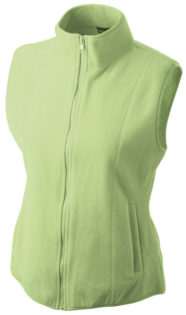 Ärmellose Fleecejacke Damen - lime green