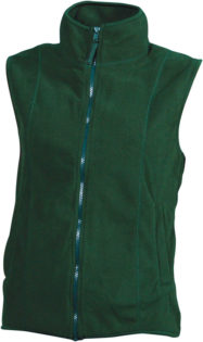 Ärmellose Fleecejacke Damen - dark green