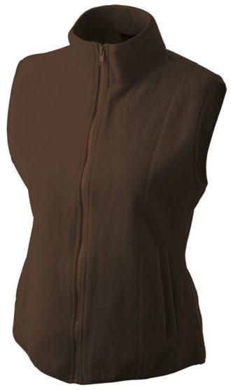 Ärmellose Fleecejacke Damen - brown