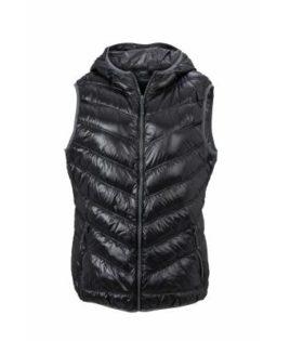 Ladies' Down Vest - black/grey