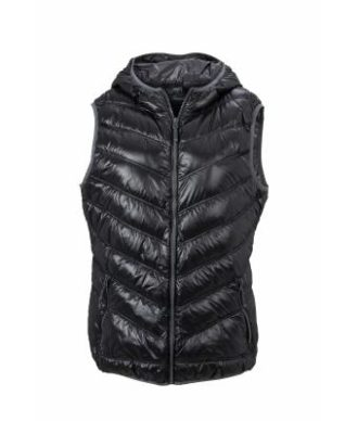 Ladies' Down Vest - black/grey