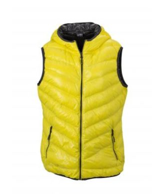 Ladies' Down Vest - yellow/carbon