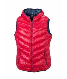 Ladies' Down Vest - red/navy