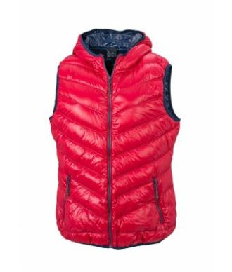 Ladies' Down Vest - red/navy