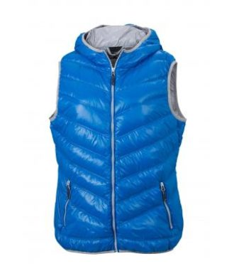 Ladies' Down Vest - blue/silver