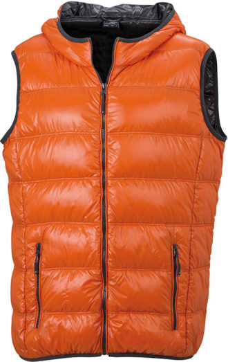 Men s Down Vest - dark-orange/carbon