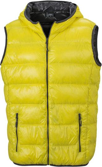 Men s Down Vest - yellow/carbon