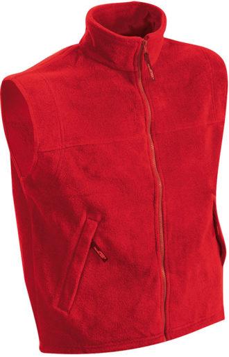 Ärmellose Fleeceweste Teamkleidung - red