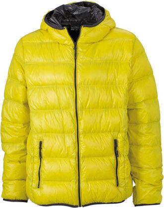 Werbeartikel Mens Down Jacket - yellow/carbon
