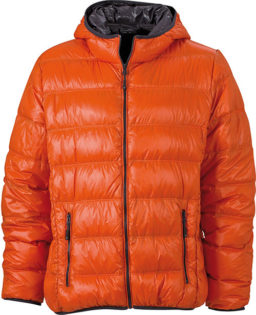 Werbeartikel Mens Down Jacket - dark orange/carbon