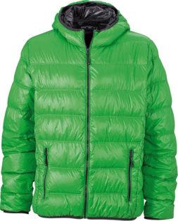 Werbeartikel Mens Down Jacket - green/carbon