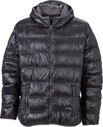 Werbeartikel Mens Down Jacket - black/grey