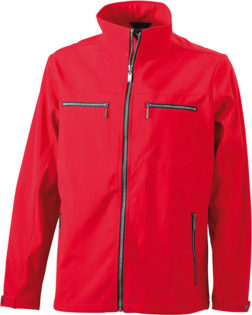 Herren Softshell Jacke Tailord James and Nicholson - red