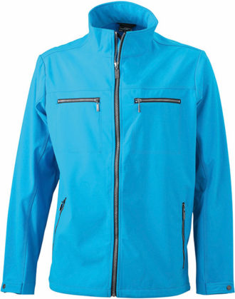 Herren Softshell Jacke Tailord James and Nicholson - turquoise
