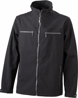 Herren Softshell Jacke Tailord James and Nicholson - black