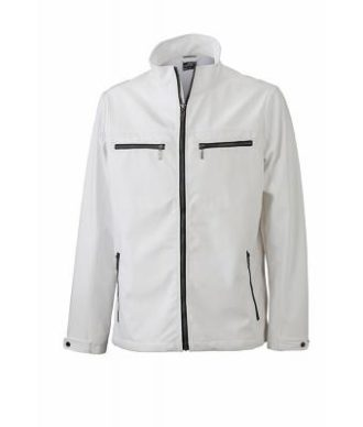 Herren Softshell Jacke Tailord James and Nicholson - white