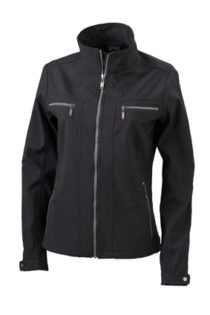 Damen Softshelljacke Tailord James and Nicholson - black