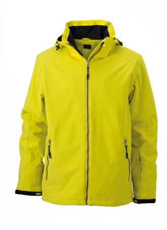 Wintersport Jacket Men James and Nicholson - yellow