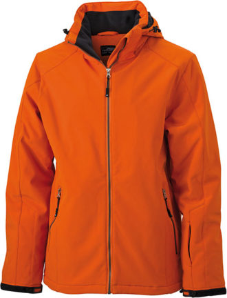 Wintersport Jacket Men James and Nicholson - dark orange