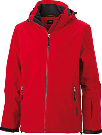Wintersport Jacket Men James and Nicholson - red