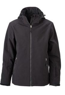 Wintersport Jacket Men James and Nicholson - black