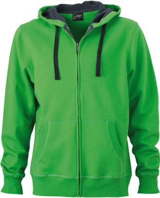 Werbeartikel Kapuzen Sweat Jacke - green/carbon