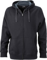 Werbeartikel Kapuzen Sweat Jacke - black/carbon