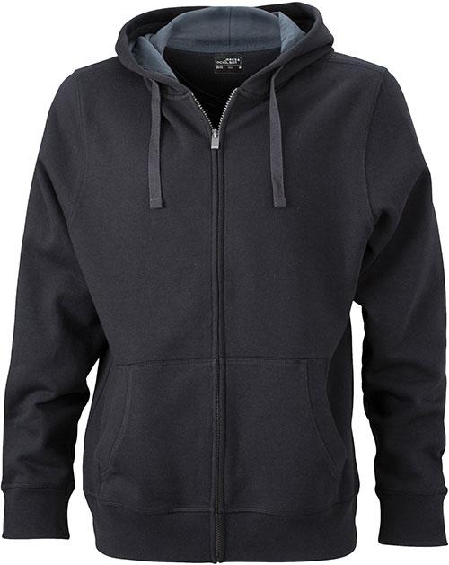 Werbeartikel Kapuzen Sweat Jacke - black/carbon