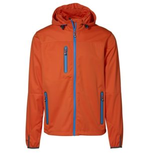 Identity Leichte Softshell Herrenjacke - orange