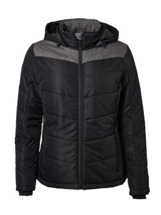 Ladies' Winter Jacket James & Nicholson - black/anthracite-melange