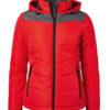 Ladies' Winter Jacket James & Nicholson - red/anthracite-melange