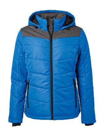 Ladies' Winter Jacket James & Nicholson - silver/anthracite-melangeLadies' Winter Jacket James & Nicholson - royal/anthracite-melange