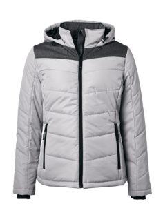 Ladies' Winter Jacket James & Nicholson - silver/anthracite-melange