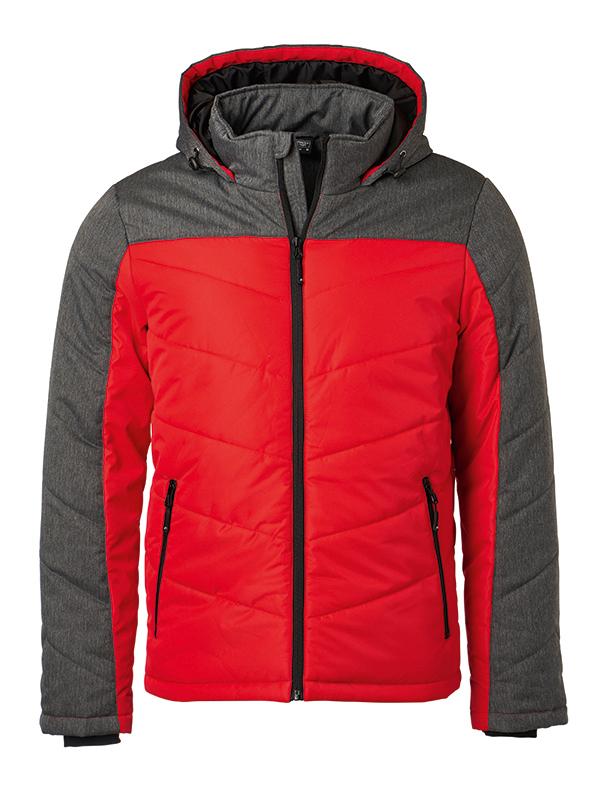 Men's Winter Jacket - red/anthracite-melange