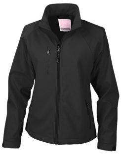 Womens Base Layer Soft Shell Jacket - black