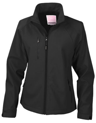 Womens Base Layer Soft Shell Jacket - black