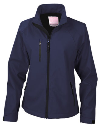 Womens Base Layer Soft Shell Jacket - navy