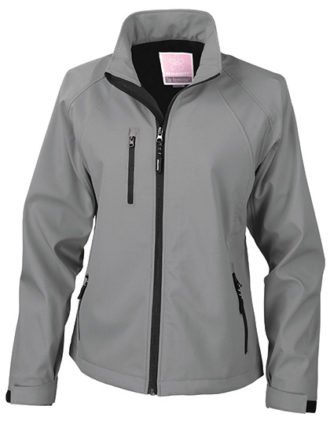 Womens Base Layer Soft Shell Jacket - grey