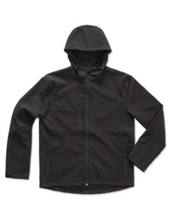 Active Softshell Hooded Jacket Stedman - black