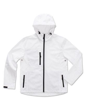 Active Softshell Hooded Jacket Stedman - white
