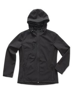 Active Women Softshell Hooded Jacket Stedman - black