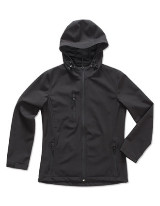 Active Women Softshell Hooded Jacket Stedman - black