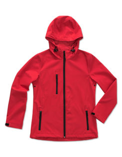 Active Women Softshell Hooded Jacket Stedman - red