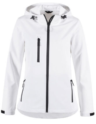Active Women Softshell Hooded Jacket Stedman - white