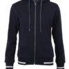 Ladies Club Sweat Jacket James and Nicholson - navy white