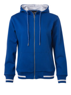 Ladies Club Sweat Jacket James and Nicholson - royal white