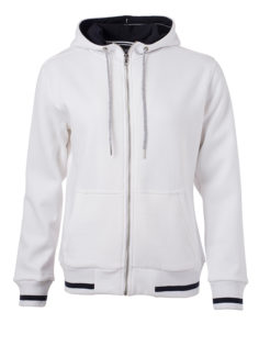 Ladies Club Sweat Jacket James and Nicholson - white royal